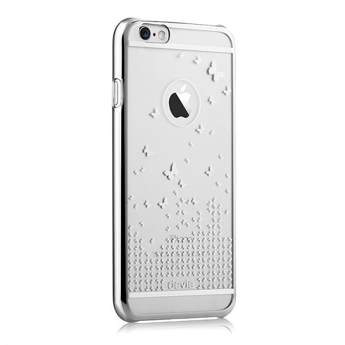 Carcasa iPhone 6/6S Devia Butterfly Silver (rama electroplacata)