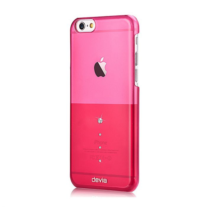 Carcasa iPhone 6/6S Devia Crystal Unique Rose Pink (Cristale Swarovski�)