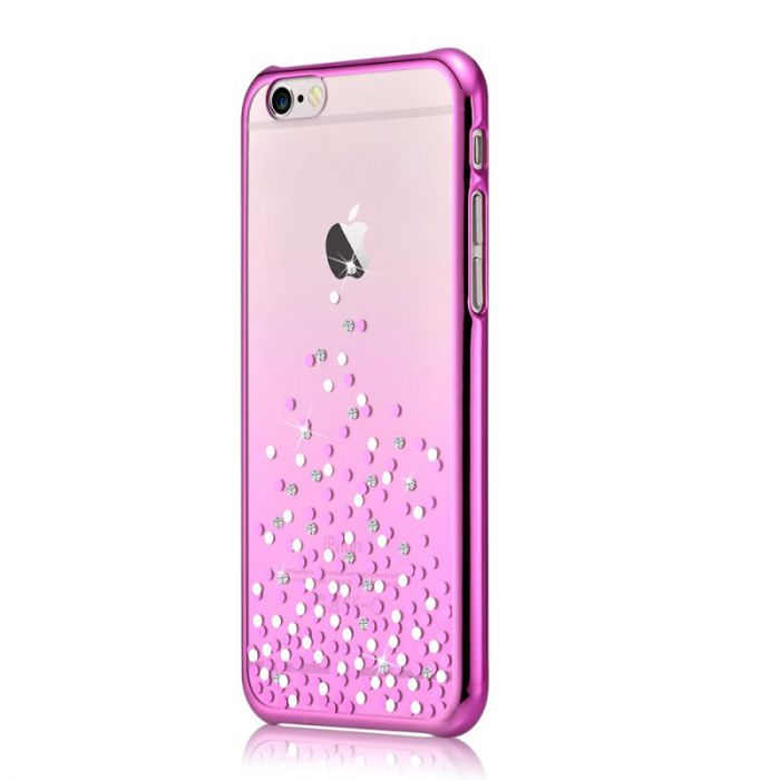 Carcasa iPhone 6/6S Comma Unique Polka Rose Pink (Cristale Swarovski�, electroplacat)