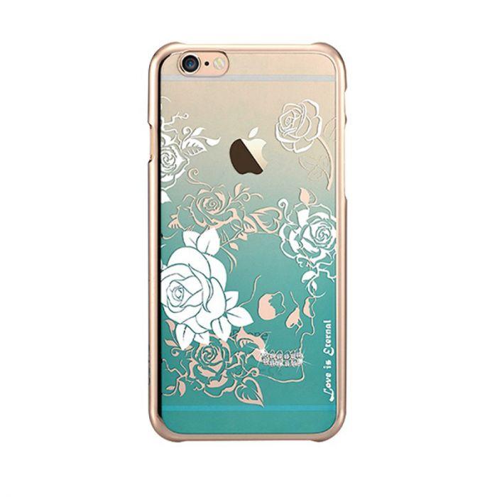 Carcasa iPhone 6/6S Devia Crystal Charm Green (Cristale Swarovski�, electroplacat)