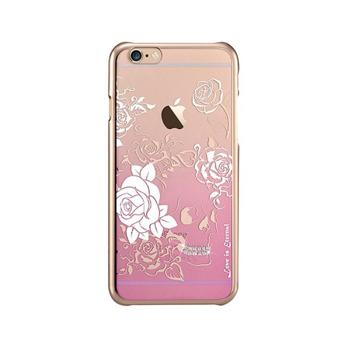 Carcasa iPhone 6/6S Devia Crystal Charm Pink (Cristale Swarovski�, electroplacat)