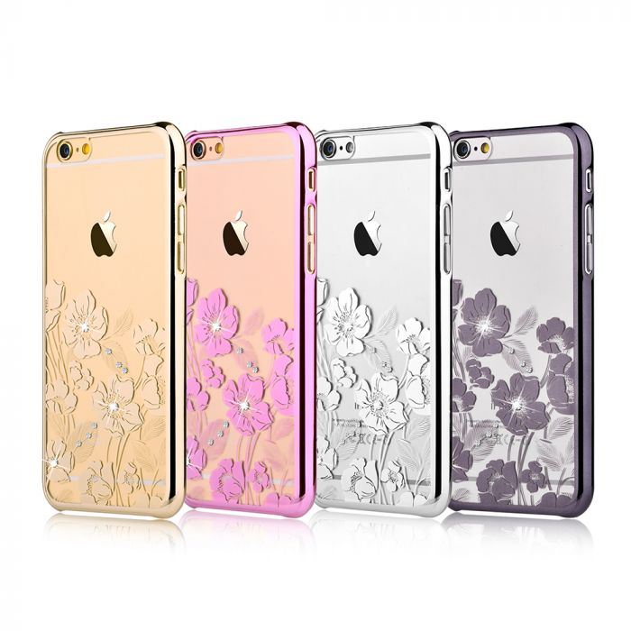 Carcasa iPhone 6/6S Devia Crystal Rococo Gun Black (Cristale Swarovski�, electroplacat)