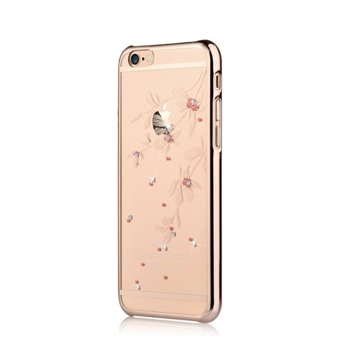 Carcasa iPhone 6/6S Devia Crystal Flowery Champagne Gold (Cristale Swarovski�, electroplacat)