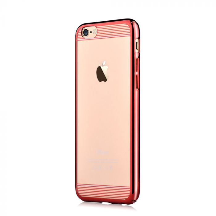 Carcasa iPhone 6/6S Comma Brightness Updated Version Rose Pink (electroplacat, protectie 360�)
