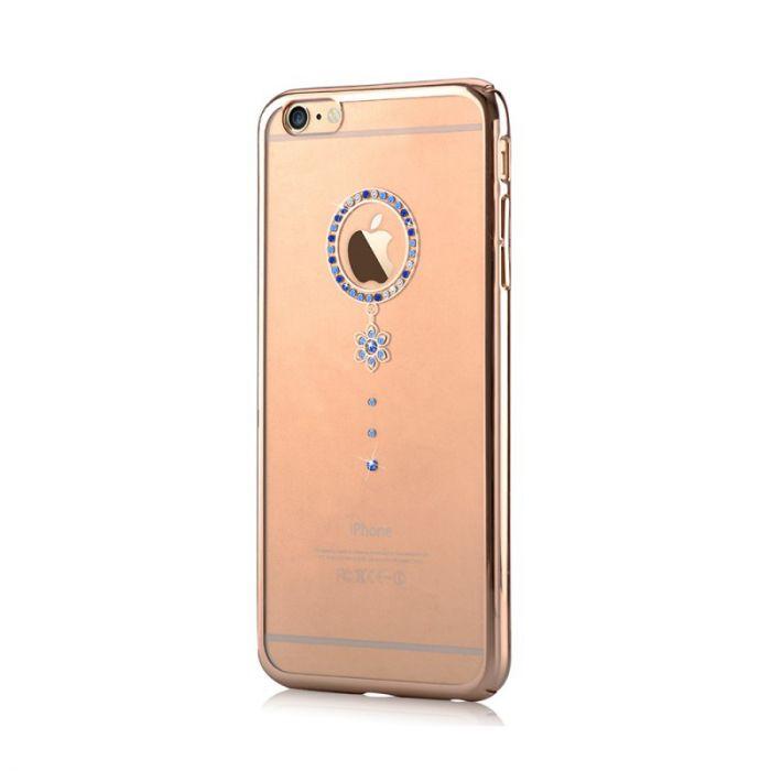 Carcasa iPhone 6/6S Comma Crystal Camelia Blue Diamond (Cristale Swarovski�, electroplacat, protecti