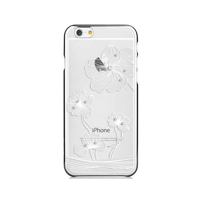 Carcasa iPhone 6/6S Comma Crystal Flora Silver (Cristale Swarovski�, electroplacat, protectie 360�)