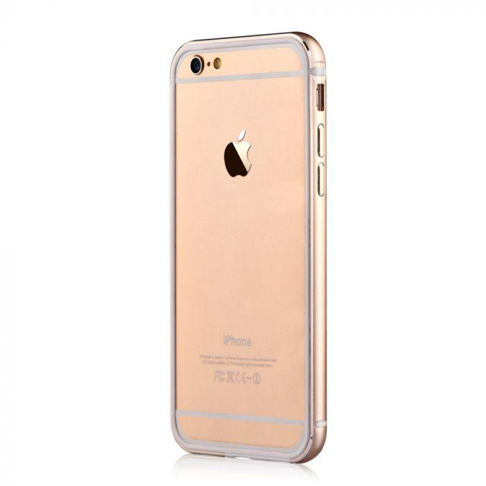 Bumper iPhone 6/6S Devia Mighty Champagne Gold (aluminiu + silicon, protectie 360�)