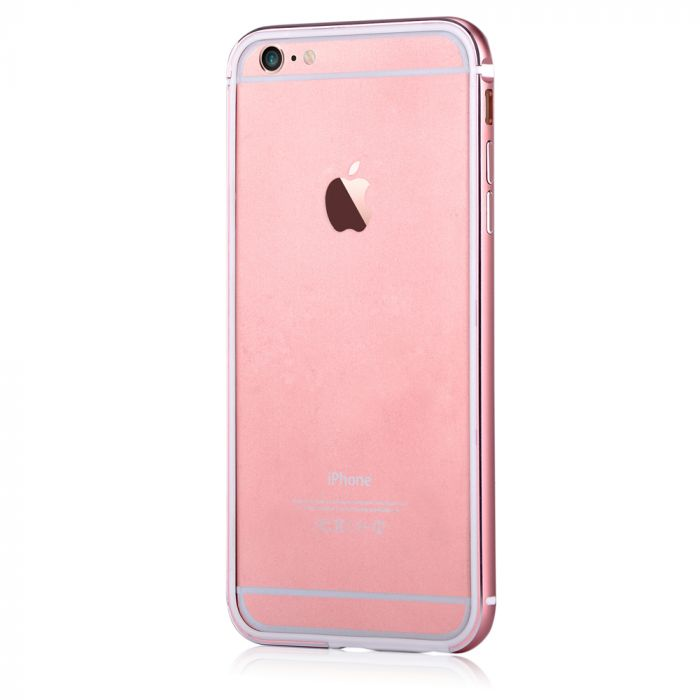 Bumper iPhone 6/6S Devia Mighty Rose Gold (aluminiu + silicon, protectie 360�)