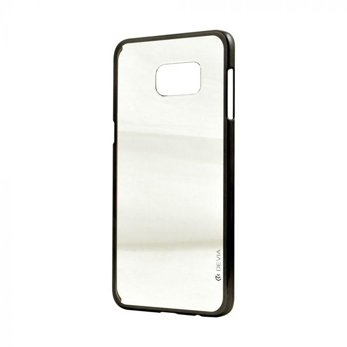 Carcasa Samsung Galaxy S6 Edge+ G928 Devia Glimmer Gun Black (rama electroplacata)