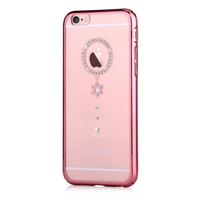 Carcasa iPhone 6/6S Comma Crystal Camelia Rose White Diamond (Cristale Swarovski�, electroplacat, pr