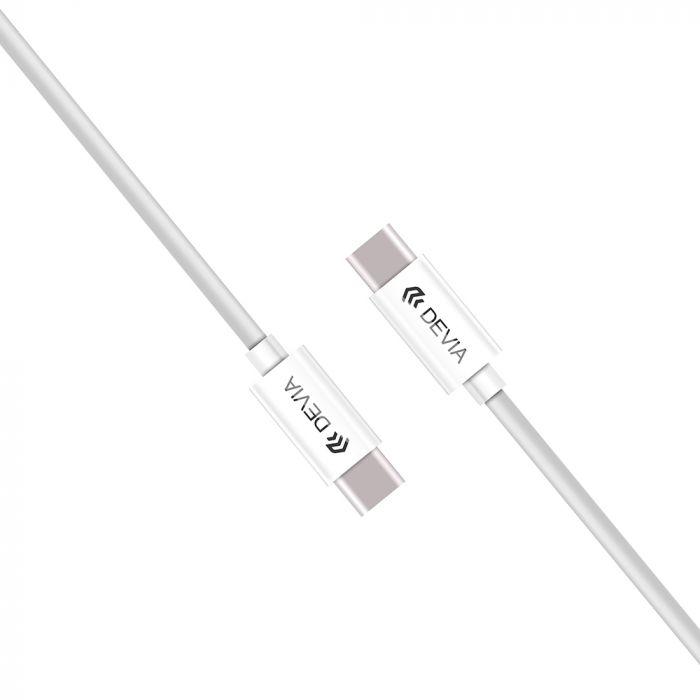Cablu Type-C - Type-C Devia Istyle White (2m)
