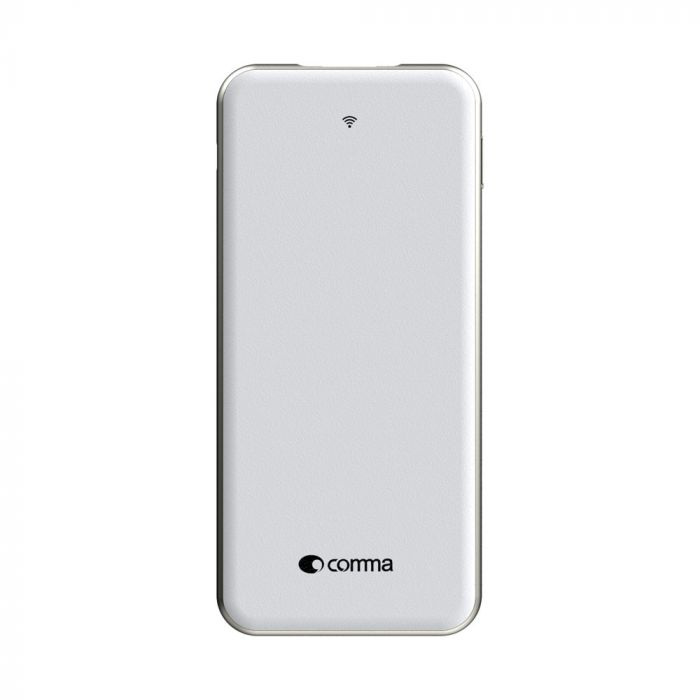 Comma Slimbox Wireless Memorie Externa 32 GB si Acumulator 5000 mAh Alb