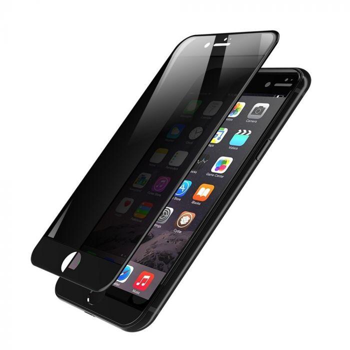 Folie iPhone 7 Devia Frame Sticla Temperata Privacy Black