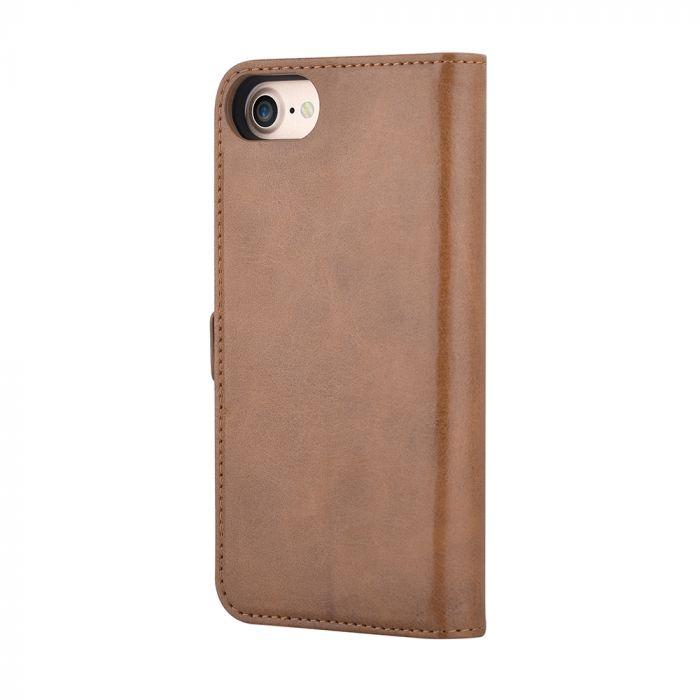 Husa iPhone 8 / 7 Devia Magic 2 in 1 Brown (piele book cu carcasa magnetica detasabila)