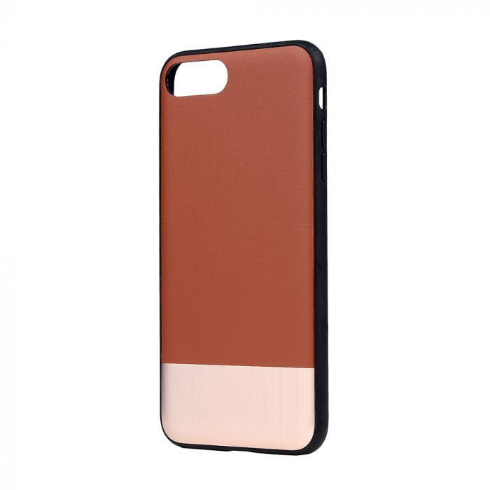Carcasa iPhone 8 Plus / 7 Plus Devia Commander Brown (piele naturala, margini flexibile)