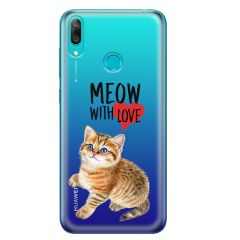 Husa Huawei Y7 2019 Lemontti Silicon Art Meow With Love