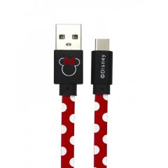 Cable Disney USB Type-C Minnie Dots Red
