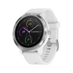 Smartwatch Garmin Vivoactive 3 HR, GPS, Silver, Silicone White