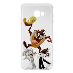 Husa Samsung Galaxy J4 Plus Looney Tunes Silicon Looney Tunes 001 Clear