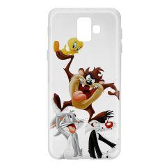 Husa Samsung Galaxy J6 Plus Looney Tunes Silicon Looney Tunes 001 Clear