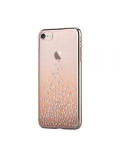 Carcasa iPhone 8 / 7 Comma Unique Polka Champagne Gold (Cristale Swarovski®, electroplacat, protecti