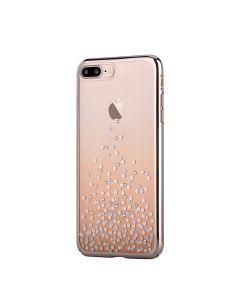 Carcasa iPhone 8 Plus / 7 Plus Comma Unique Polka Champagne Gold (Cristale Swarovski®, electroplacat