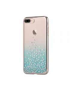 Carcasa iPhone 8 Plus / 7 Plus Comma Unique Polka Green (Cristale Swarovski®, electroplacat, protect
