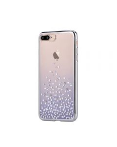 Carcasa iPhone 8 Plus / 7 Plus Comma Unique Polka Blue (Cristale Swarovski®, electroplacat, protecti