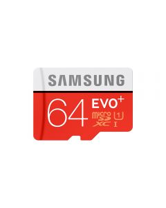 Card Memorie Universal Samsung Evo Plus MicroSDXC 64 GB Clasa 10 UHS-I + Adaptor SD (80MB/s)