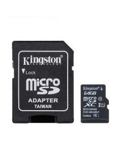 Card Memorie Kingston MicroSD XC 64 GB Clasa 10 + Adaptor SD (45MB/s)