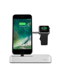 Belkin Dock Valet Lightning + Apple Watch Silver