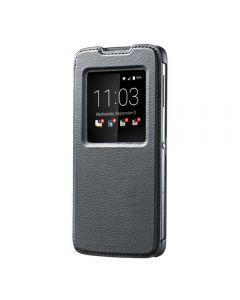 Husa BlackBerry DTEK50 Blackberry Leather Flip Case Negru (cu view)
