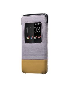 Husa BlackBerry DTEK50 Blackberry Smart Pocket Grey Tan (cu view)