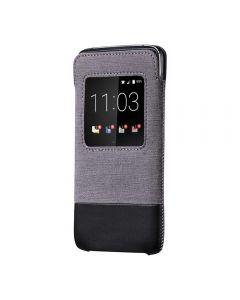 Husa BlackBerry DTEK50 Blackberry Smart Pocket Grey Black (cu view)