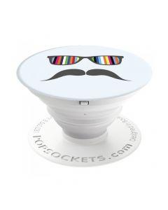 Suport Popsockets Stand Adeziv Mustache Rainbow
