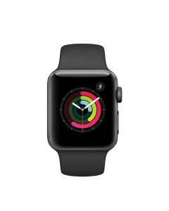 Apple Watch 2 Space Grey Aluminium Case 38 mm cu Black Sport Band