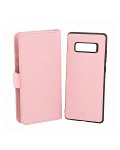 Husa Samsung Galaxy Note 8 Just Must Book Car Wallet Pink (carcasa interior detasabila)