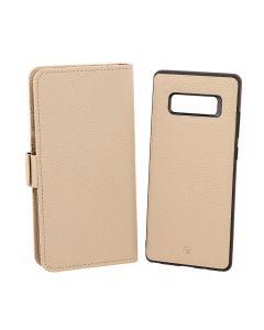 Husa Samsung Galaxy Note 8 Just Must Book Car Wallet Beige (carcasa interior detasabila)