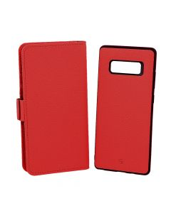 Husa Samsung Galaxy Note 8 Just Must Book Car Wallet Red (carcasa interior detasabila)