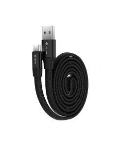 Cablu Type-C Devia Ring Black (0.8m, impletitura nylon)