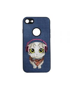 Carcasa iPhone 6/6S Lemontti Embroidery Blue Puppy
