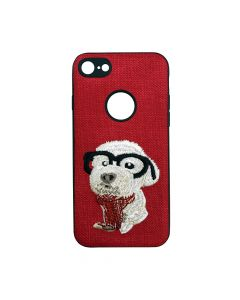 Carcasa iPhone 6/6S Lemontti Embroidery Red Puppy
