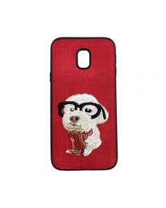 Carcasa Samsung Galaxy J3 (2017) Lemontti Embroidery Red Puppy