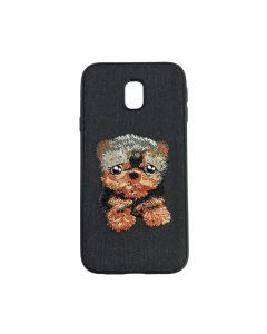 Carcasa Samsung Galaxy J3 (2017) Lemontti Embroidery Black Puppy