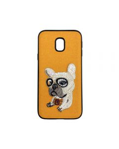 Carcasa Samsung Galaxy J3 (2017) Lemontti Embroidery Orange Puppy