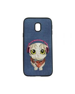 Carcasa Samsung Galaxy J5 (2017) Lemontti Embroidery Blue Puppy