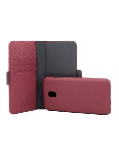 Husa Samsung Galaxy J5 (2017) Just Must Book Car Wallet Red (carcasa interior detasabila)
