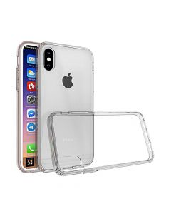 Carcasa iPhone X Just Must Pure II Clear (spate transparent, margini flexibile)