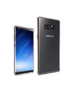 Carcasa Samsung Galaxy Note 8 Just Must Pure II Pink (spate transparent, margini flexibile)