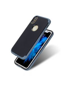 Carcasa iPhone X Just Must Arm Duo Gray (spate textura carbon negru)